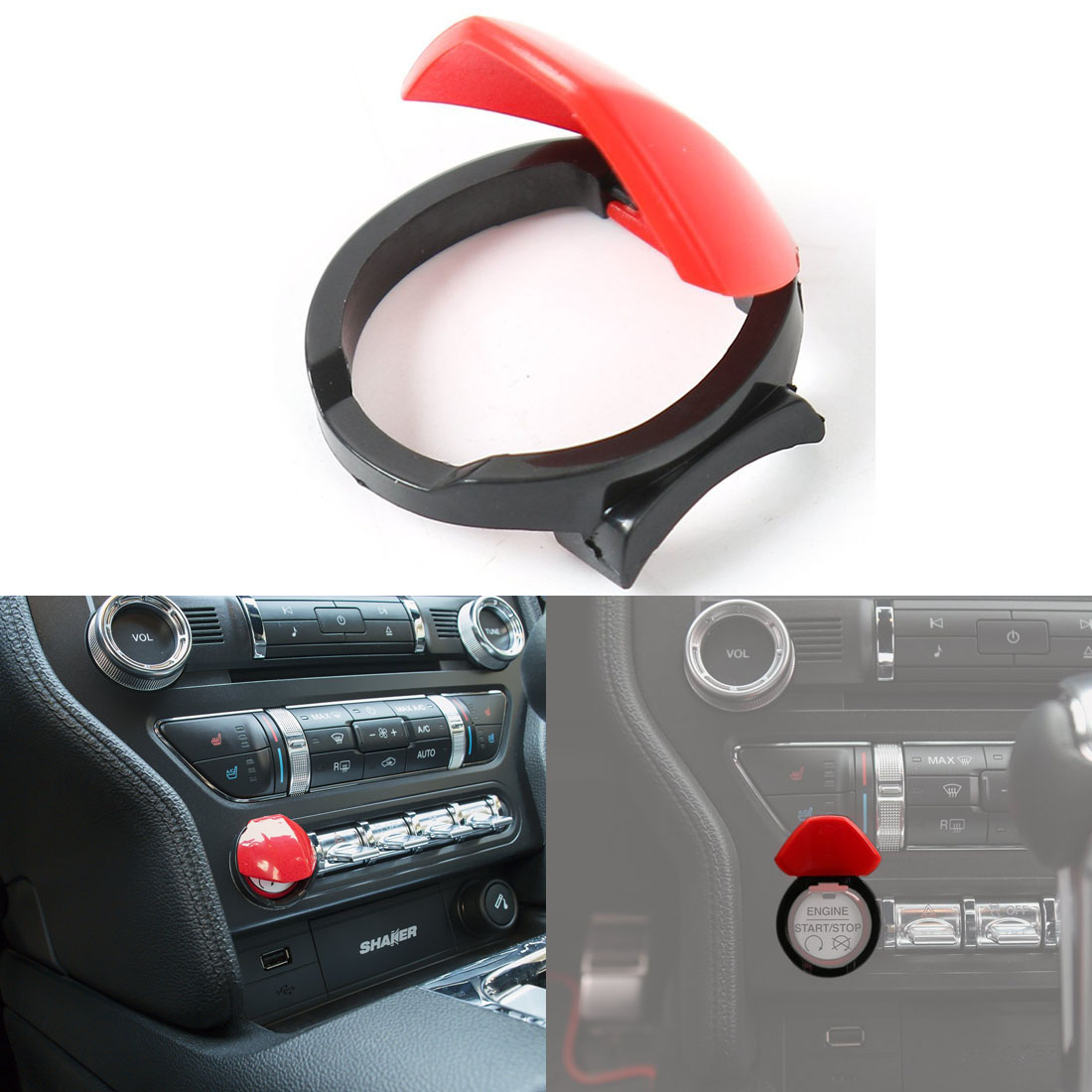 engine start stop ignition push button cover switch for 2015 2018 Finger Engine Start Button engine start stop ignition push button cover switch for 2015 2018 ford mustang