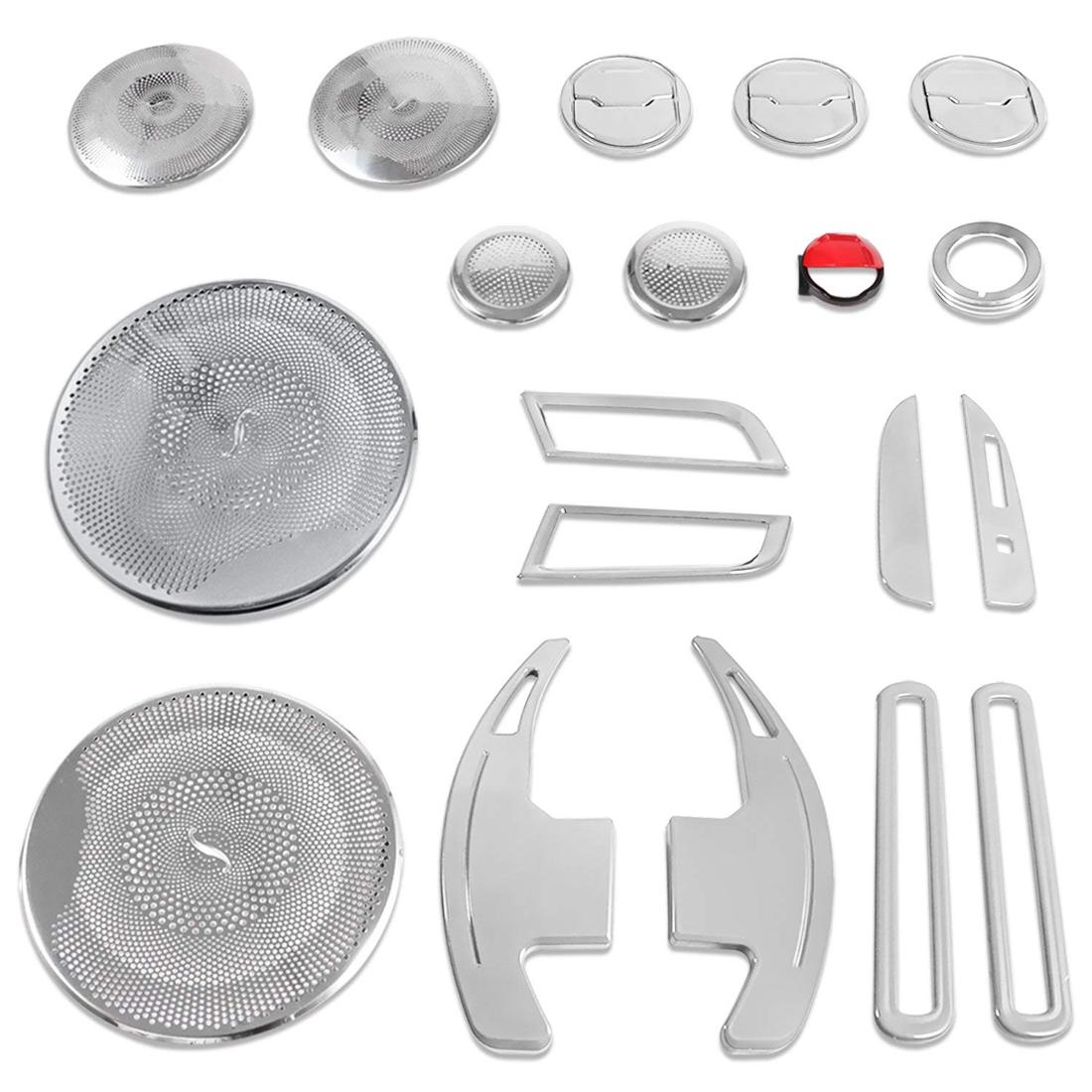 Car Interior Decoration Speaker Air Vent Kit Trim For 2015-2018 Ford Mustang #ya