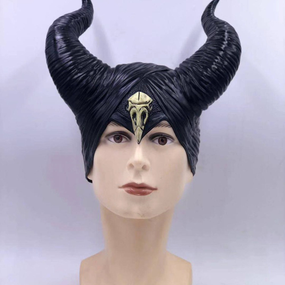 Details About 2019 Movie Maleficent 2 Mistress Of Evil Cosplay Mask Latex Horn Props Halloween