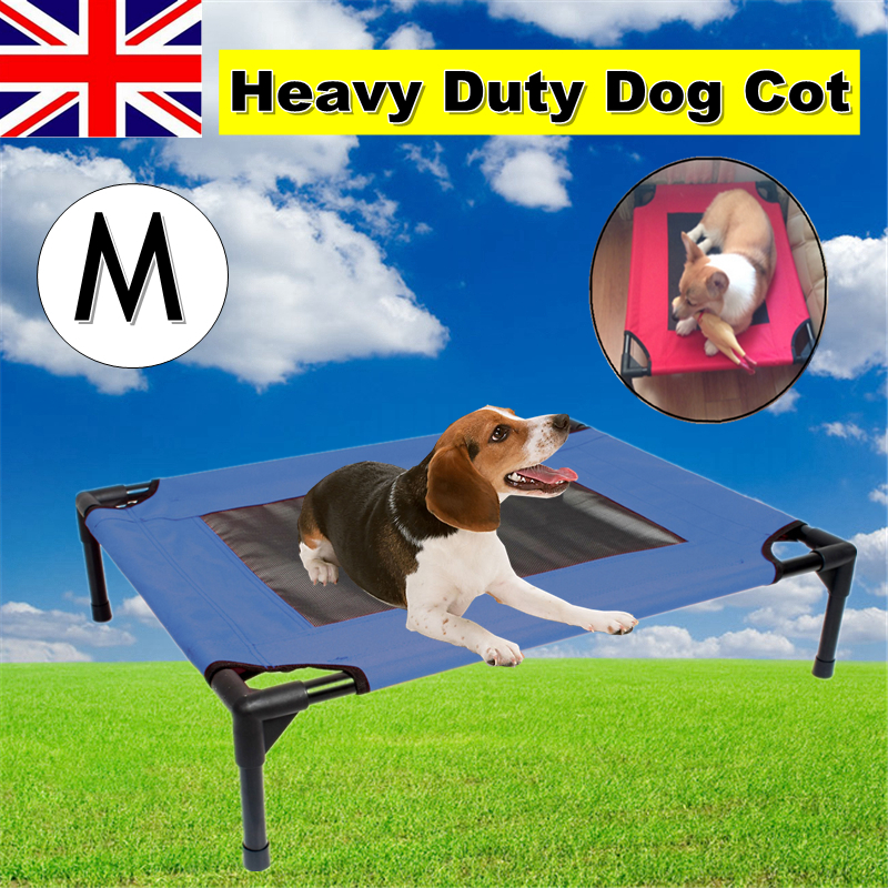 Pawhut Indoor/Outdoor Portable Dog Cat Sleep Bed Elevated Camping Pet Cot    M