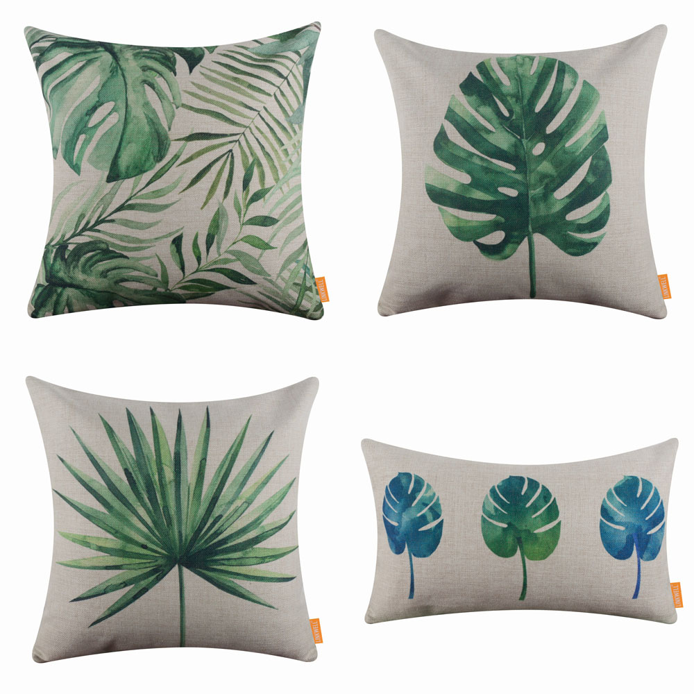 Remarkable Details About Tropical Palm Leaf Couch Cushion Cover Throw Pillow Case Green Summer Living Ocoug Best Dining Table And Chair Ideas Images Ocougorg