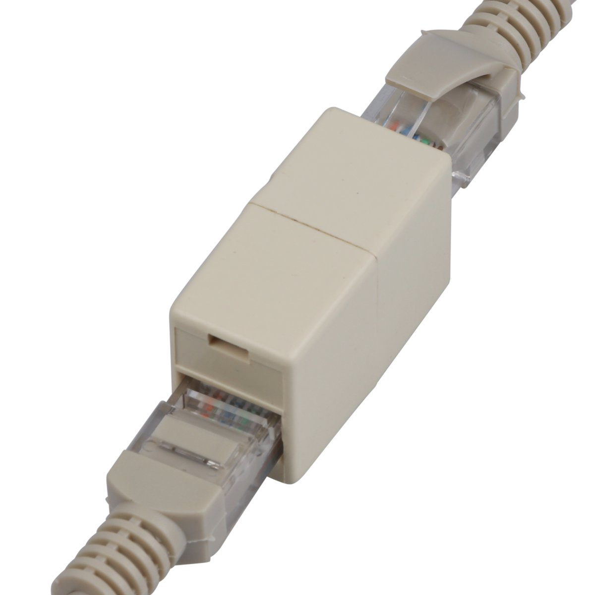 5 10pcs Rj45 5e Network Cable Straight Ethernet Lan Coupler Joiner Through Connector Up