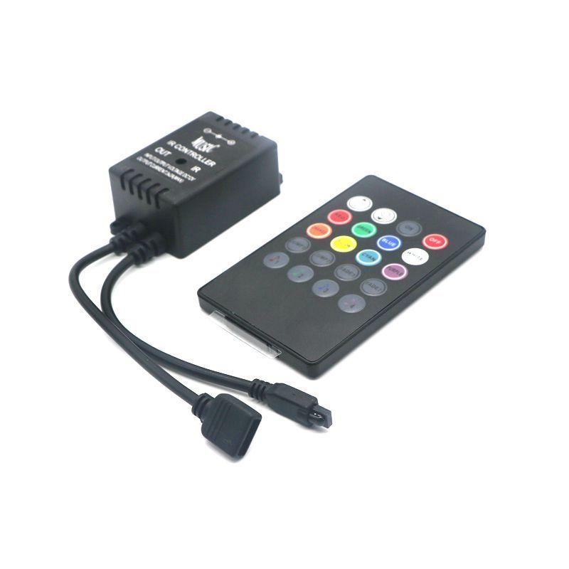 Music Remote Controller for RGB 5050//3528//2835 LED Strip Light 20 Key IR Black R