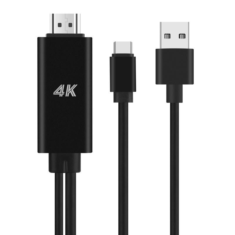 Type C To Hdmi 4k Cable Hdtv Tv Digital Av Adapter For