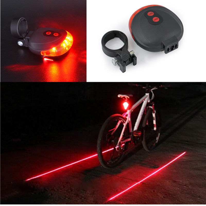 5 LED Flashing Lamp Rear Cycling Bicycle Bike Safety Warning Warn Tail Light NEW