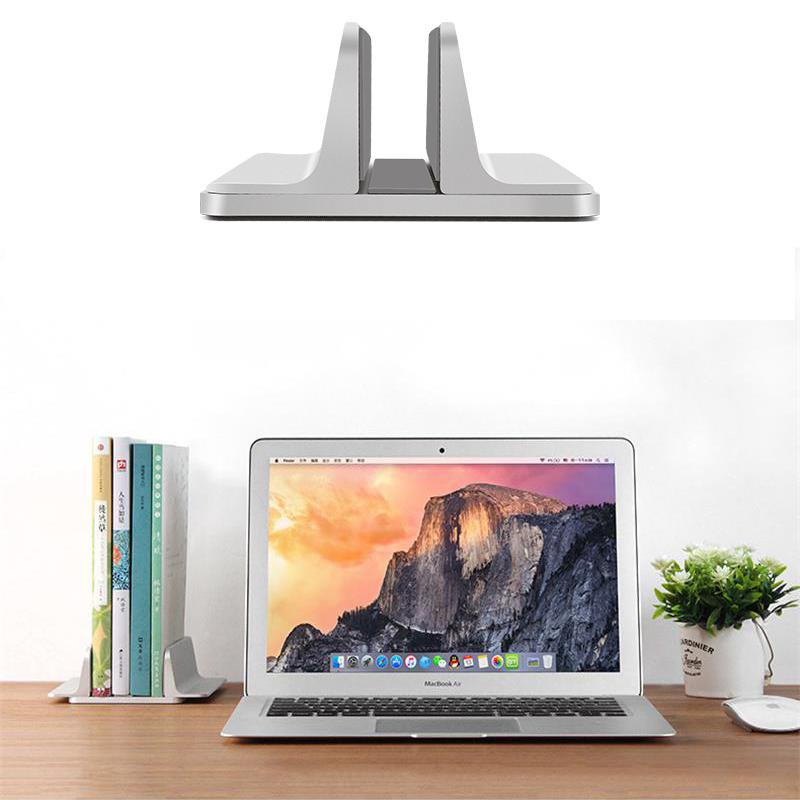 Macbook Pro Vertical Stand Holder Adjustable Dock Aluminum Desk Space Saver