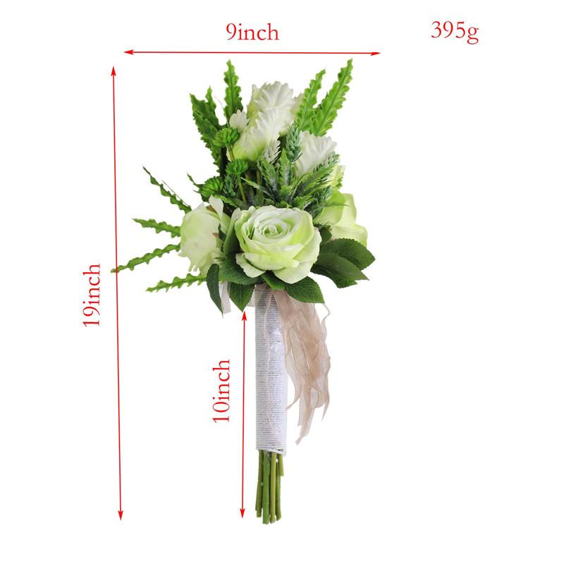 Artificial Rose Flowers Bridal Bouquet Fake Silk Flowers Arrangement ...