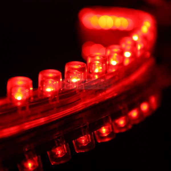 24cm Red LED Flexible Neon Strip Light for Car or Van
