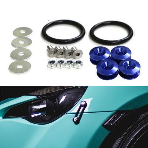 Homyl 2pcs Quick Release Fasteners Bumpers Fender Hatch Lids Blue