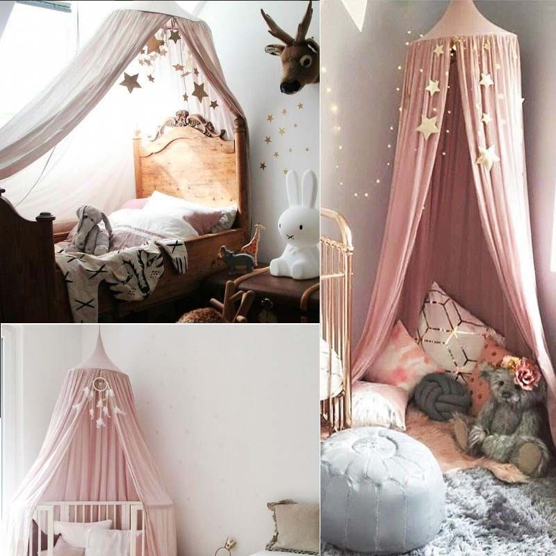 Details about Girl Baby Bed Canopy Netting Bedcover Mosquito Net Curtain  Bedding Dome Tent
