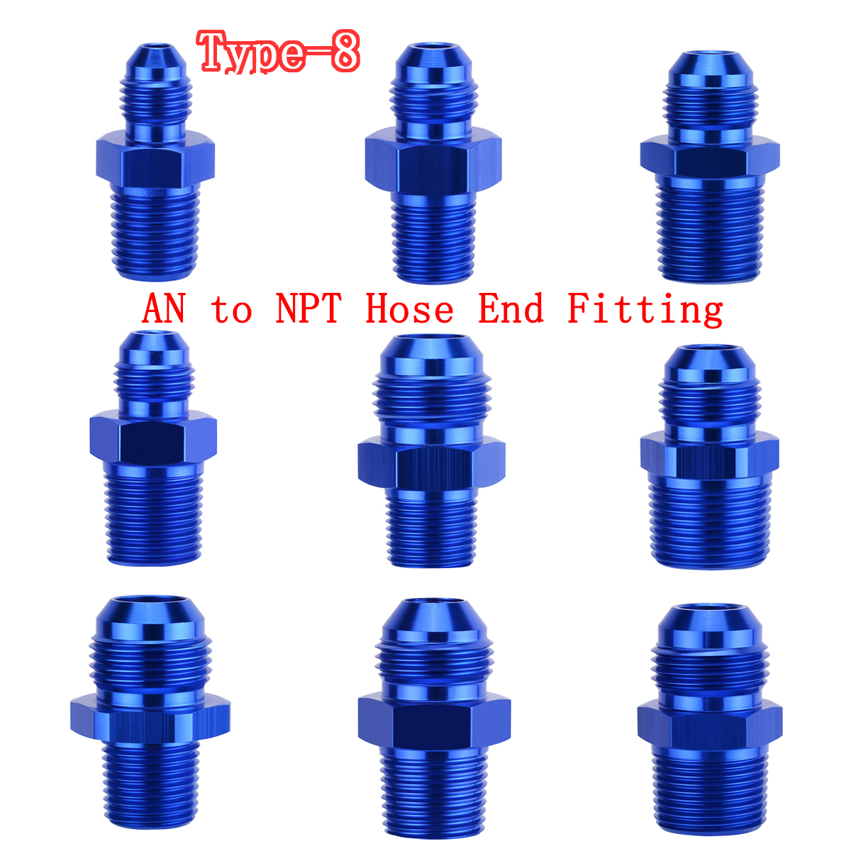 Aluminum Hose End Fitting Adapter Push On Lock For Oil Fuel Fitti M18 Line Weld Bung