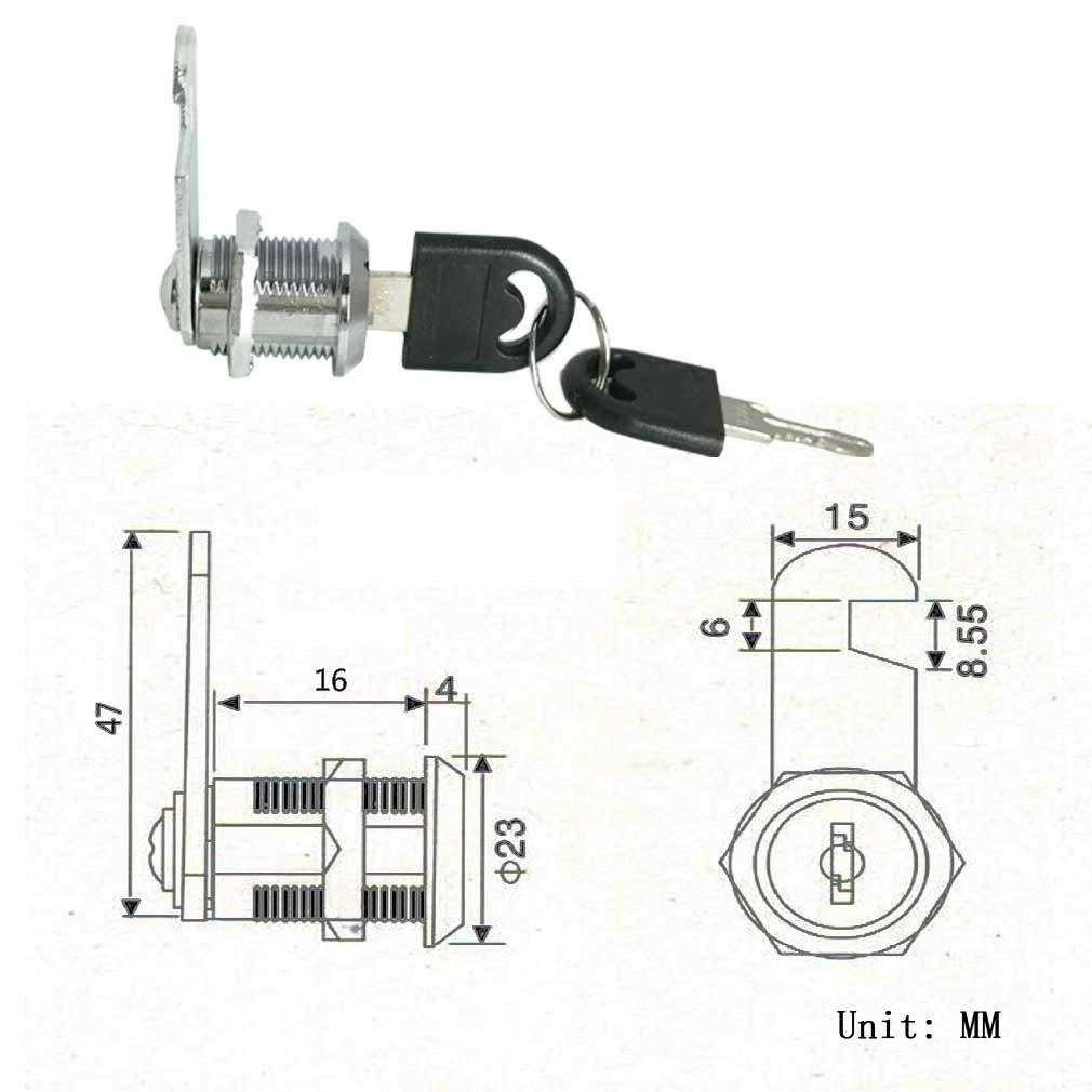 25mm Cam Lock Pinball Arcade Machine Door Cabinet Toolbox Drawer /& 2Key GW