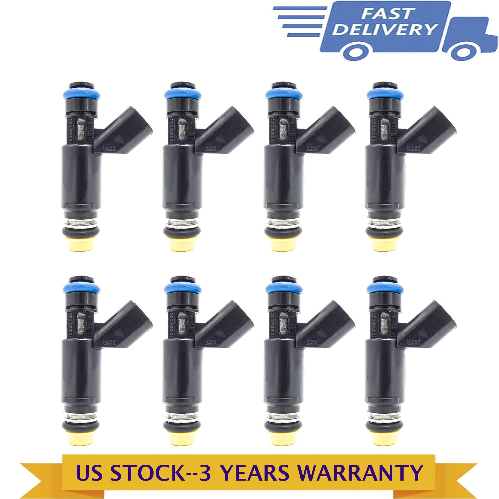 8x OEM Fuel Injectors For Silverado Express Tahoe GMC Yukon 5.3L Flex 25326903