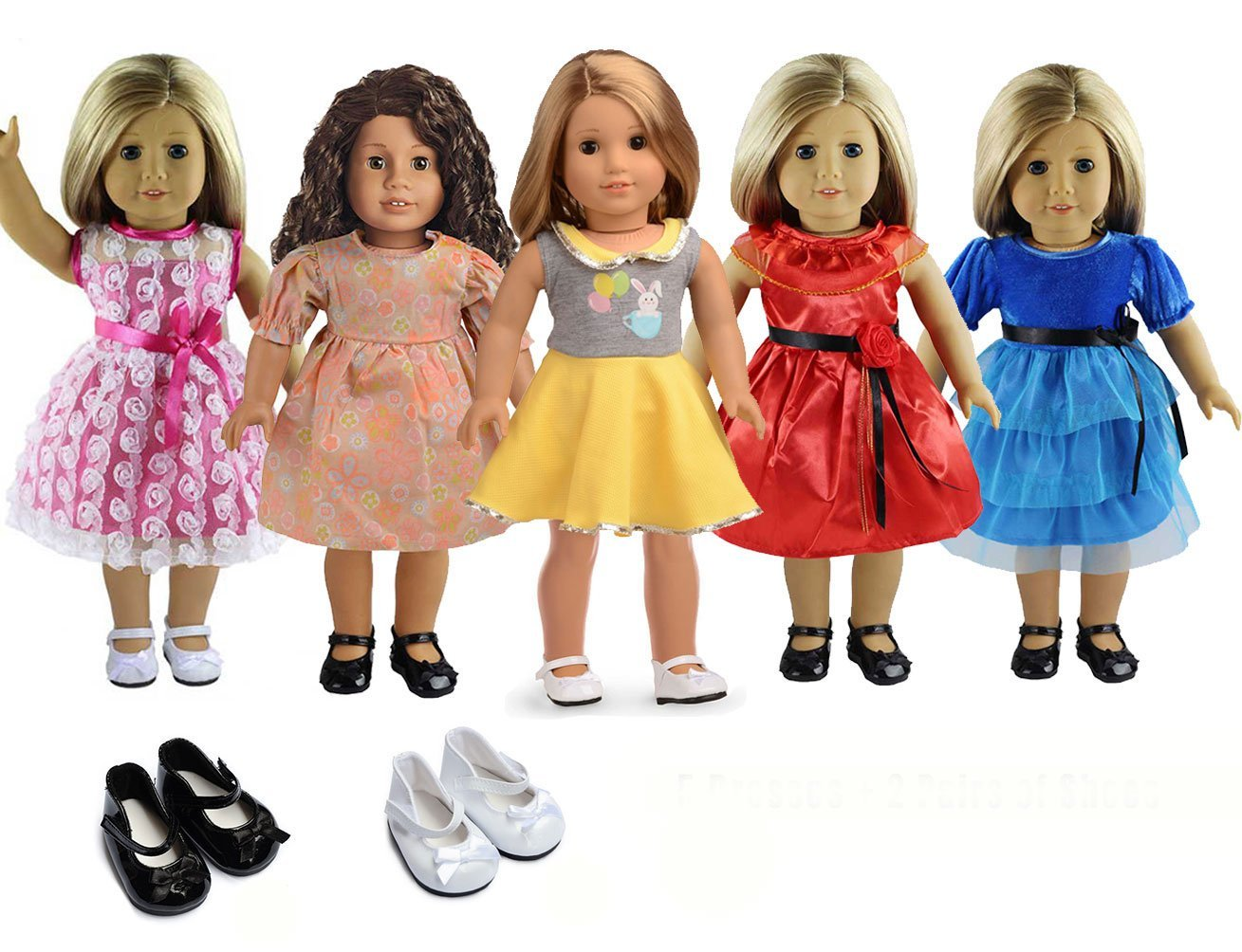 """Doll Clothes Lots 7 PC for 18/"""" Dolls American Girl Dolls"""