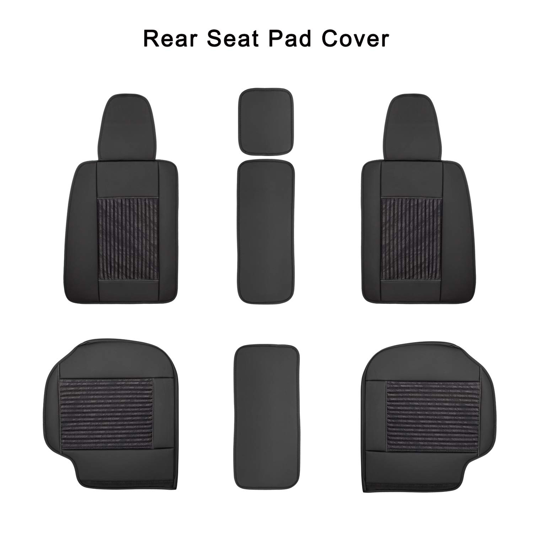 Front Rear Full Set Car Seat Cover Pad Cushion Protector