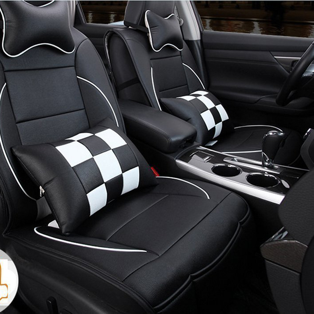 PU Leather Car Seat Cover Cushion 10pc Set For Toyota