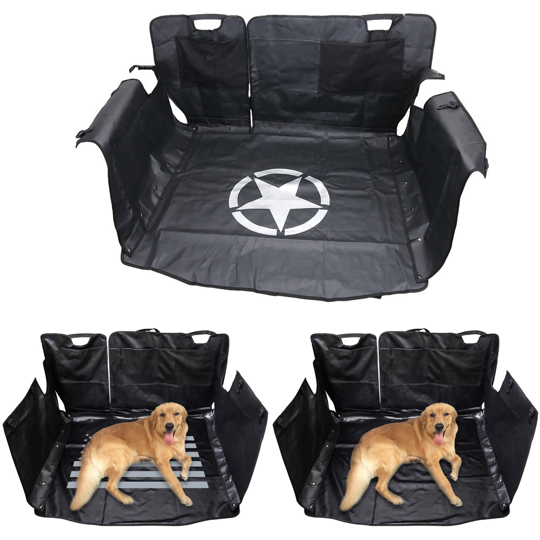 Car Trunk Seat Cover Pet Cargo Liner Floor Mat Dog Cat Hammock For