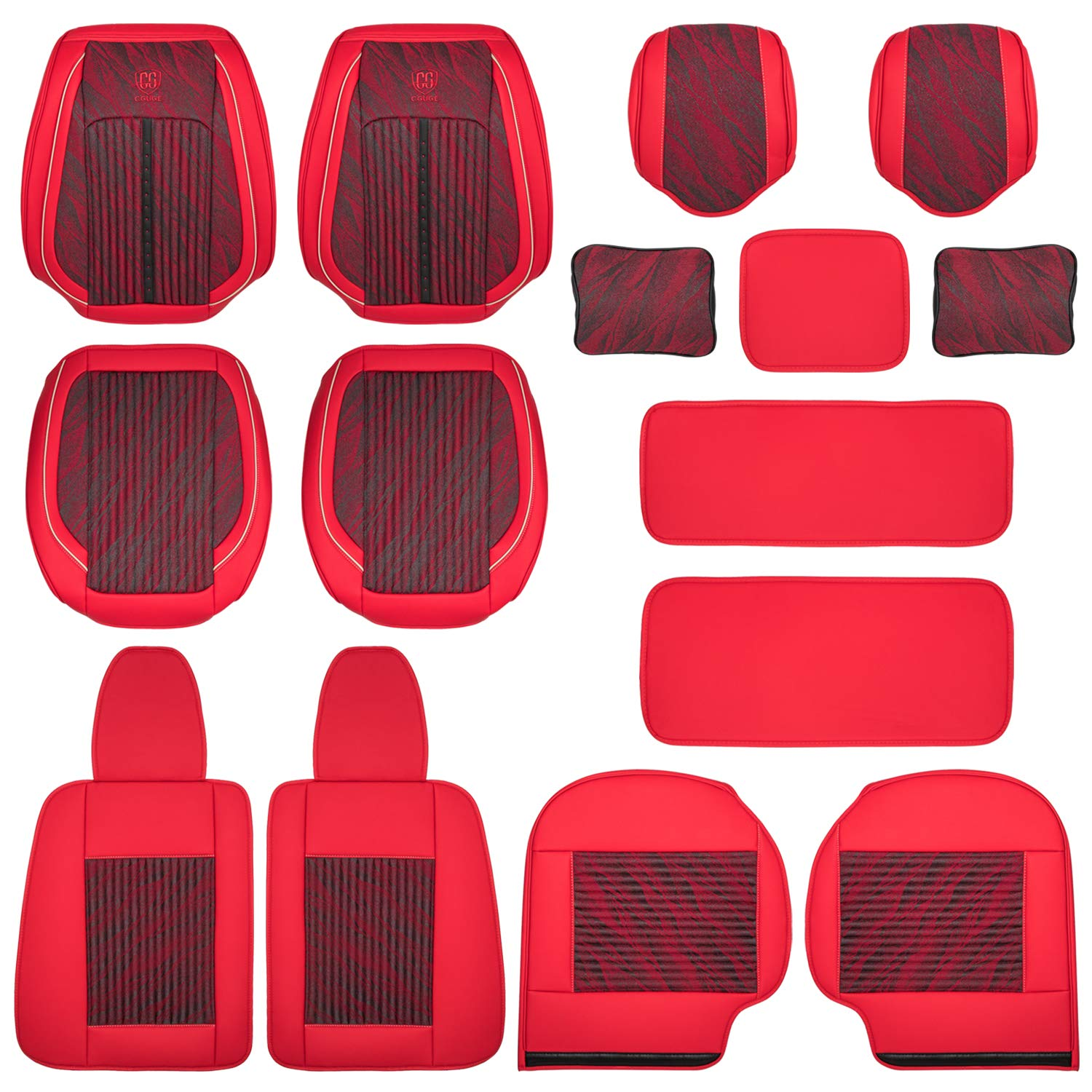 Universal Leather Front Rear Car Seat Cover Protector