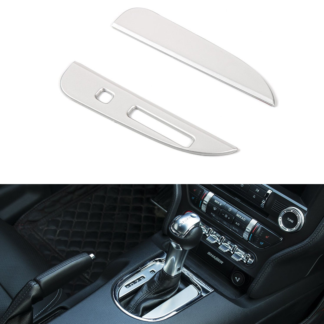 ABS Interior Gear Shift Panel Cover Fits For Ford Mustang 2015 2016 2017 2018