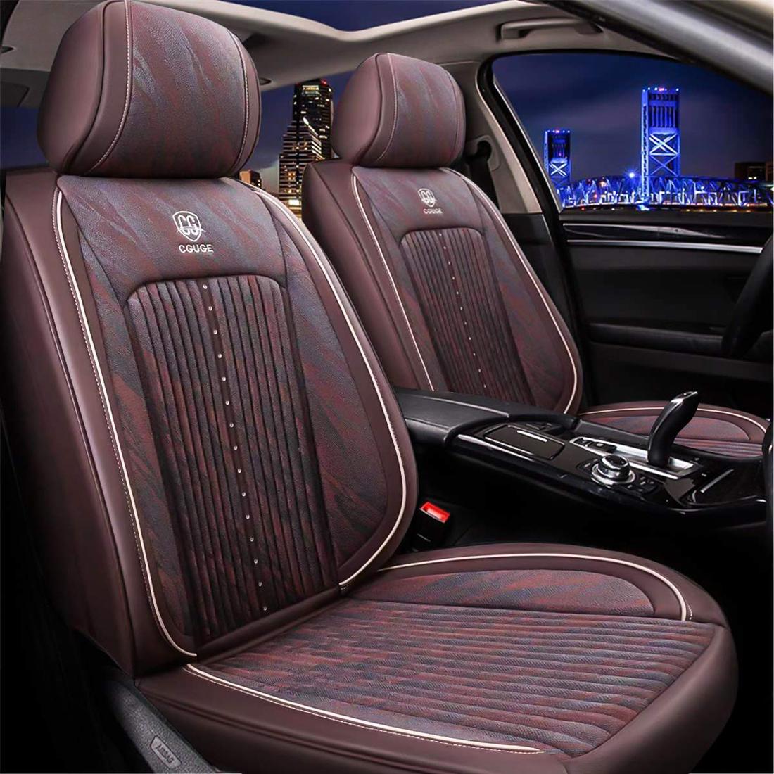 Universal PU Leather Full Set Car Seat Cover Pad Cushion