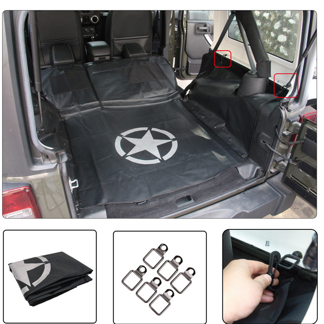 Cargo Liner Waterproof Pet Bench Seat Cover Dog Hammock