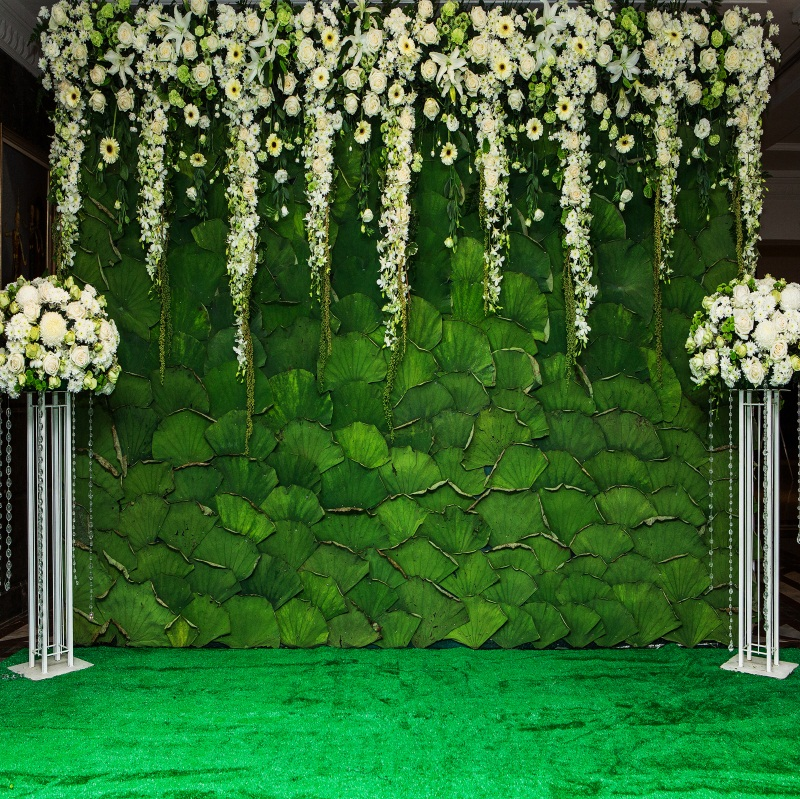 8x8ft Wedding Stage Studio Flower Wall Prop Vinyl