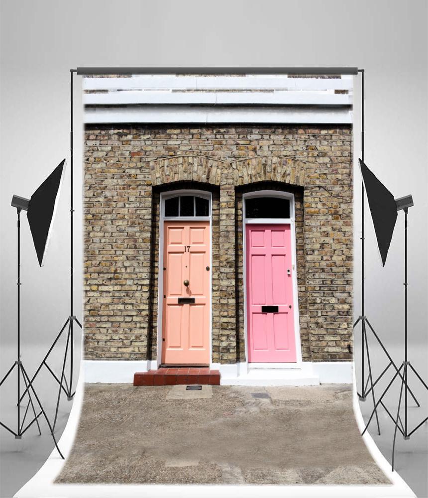 8x12 Artistic Photo Backdrop Pink Door Vinyl Props Photography Studio Background & 8x12 Artistic Photo Backdrop Pink Door Vinyl Props Photography ...