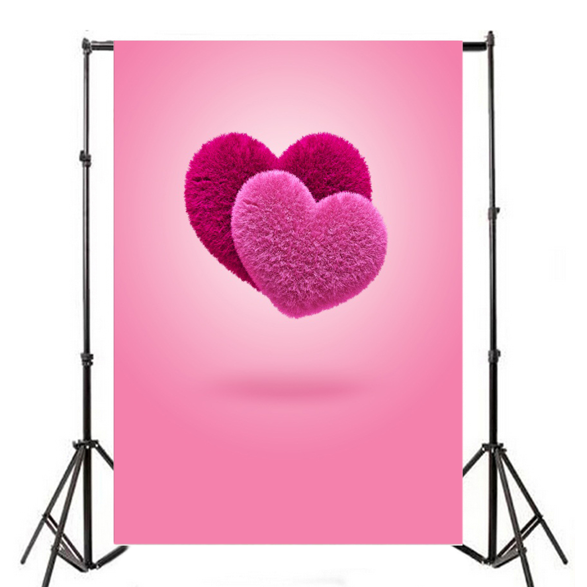 5x7ft love hearts pink photography backgrounds valentine's day