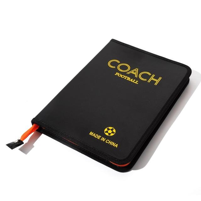 Neu Klappbar Fußball Trainerbedarf Taktiktafel Taktikmappe Couch Board PU Leder