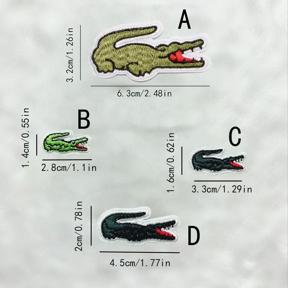 Alligator Embroidered Sew Iron On Patch Badge Fabric Crafts Applique Sticker DIY