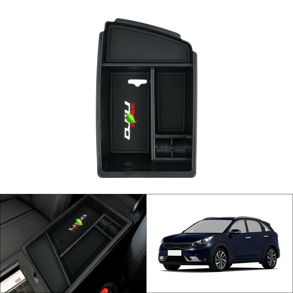 Contenitore nero con tappetino antiscivolo per bracciolo auto