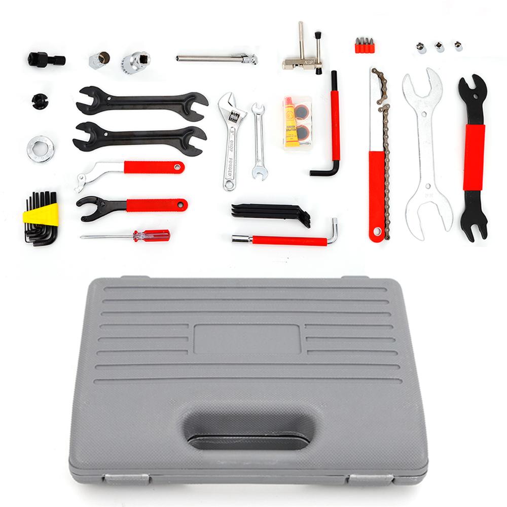 44PCS Complete Bike Bicycle Repair Tools Tool Kit Set Home Mechanic Cycling A988