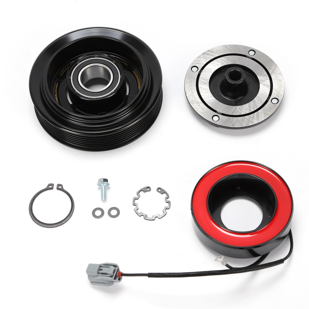 AC A//C Compressor Clutch Kit Pulley Bearing Coil Plate For HONDA CR-V CRV 06-11
