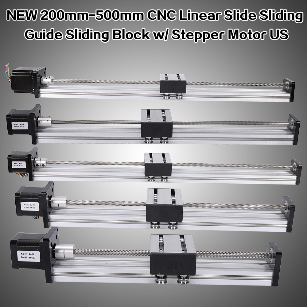 Details about NEW CNC Linear Guide Motion Actuator Linear Slide 200-500mm  42/57 Stepper Motor