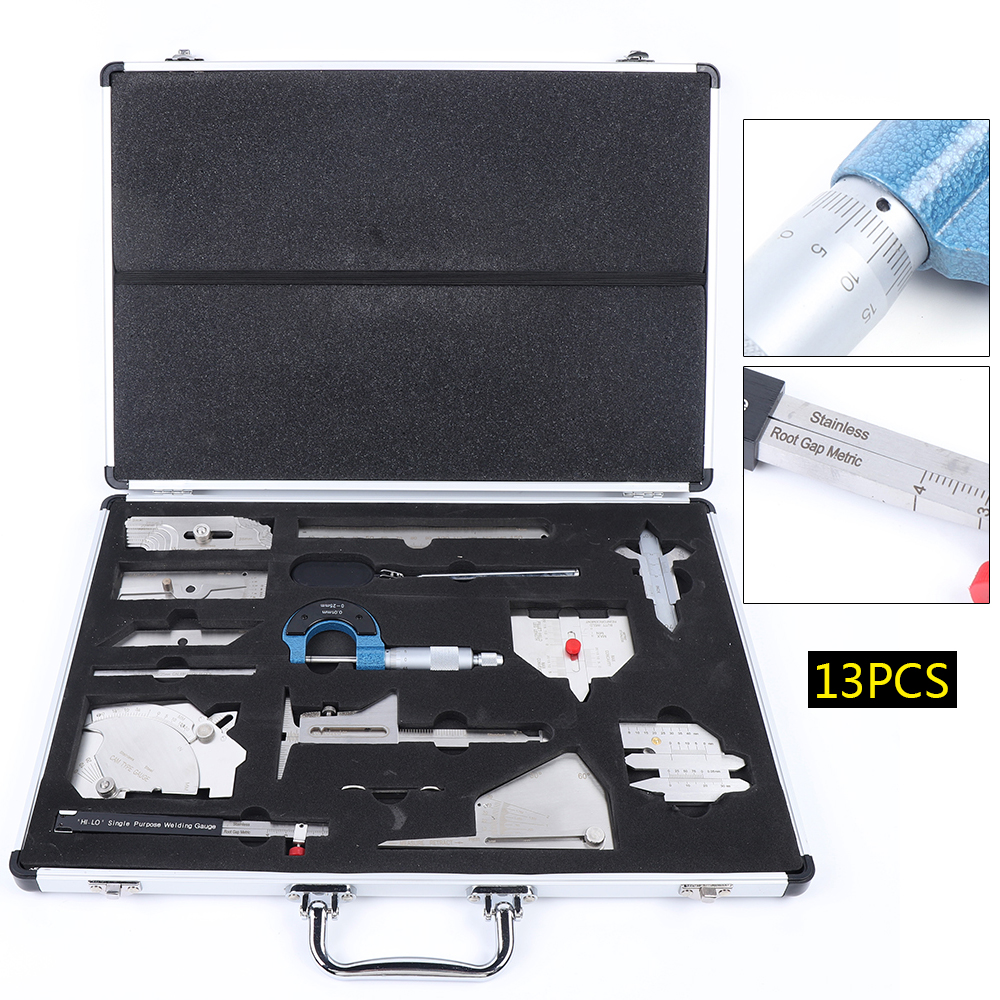 Welding Gauge Tool Inspection Ruler Tool Box in Inch Measuring Gage Inspection