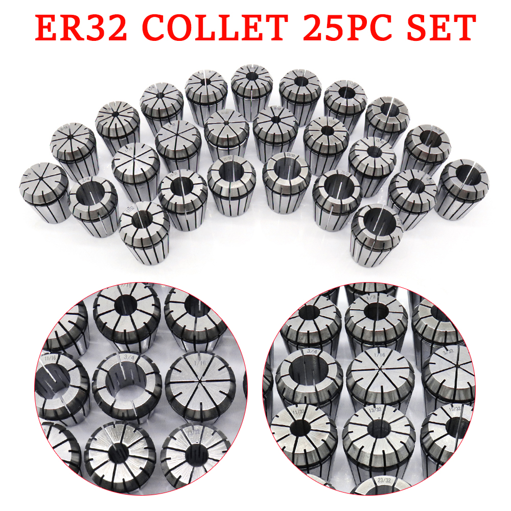 ER32 Collet Set By 16th or 32nds