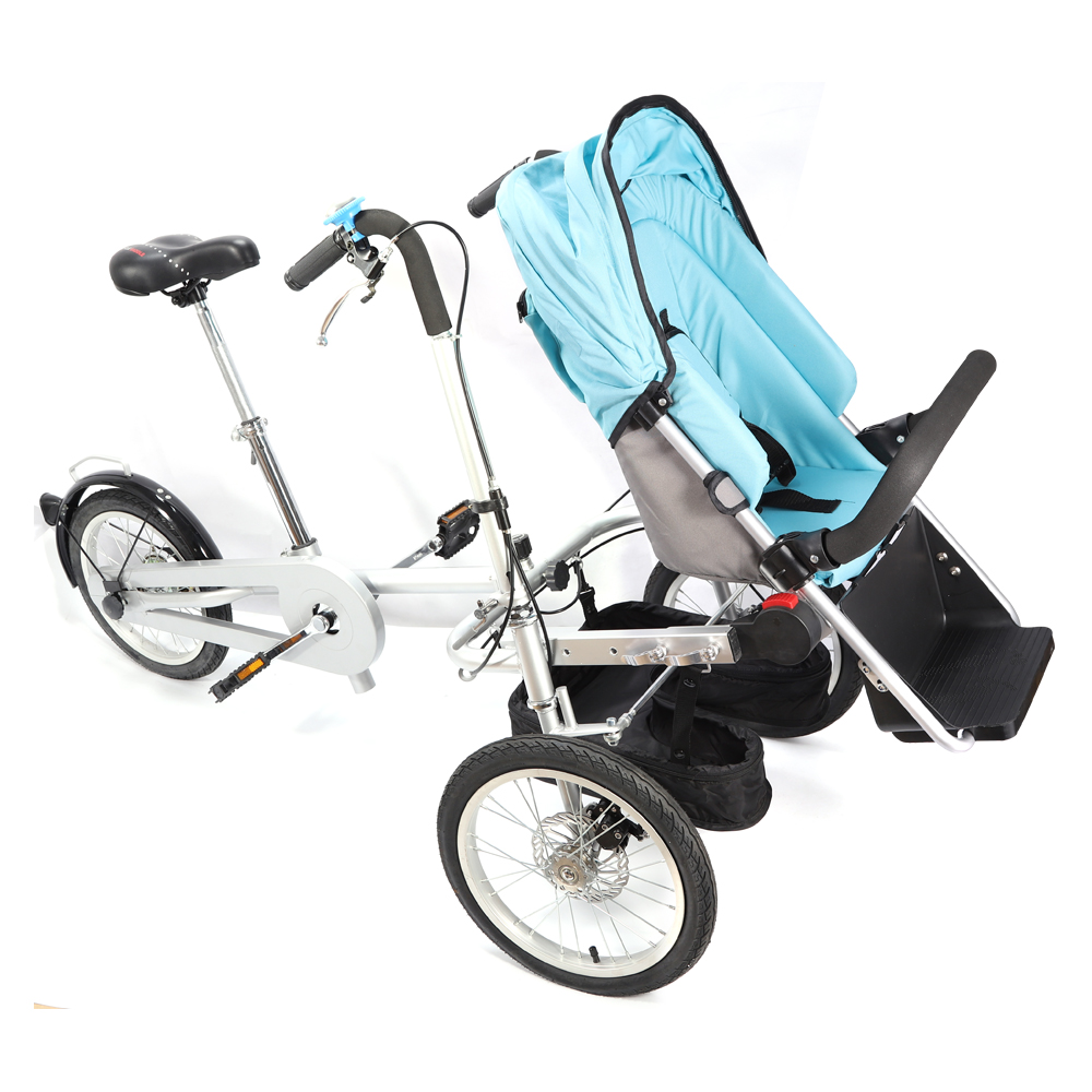tragbare klapp fahrrad kinderwagen mutter baby tr ger ein. Black Bedroom Furniture Sets. Home Design Ideas
