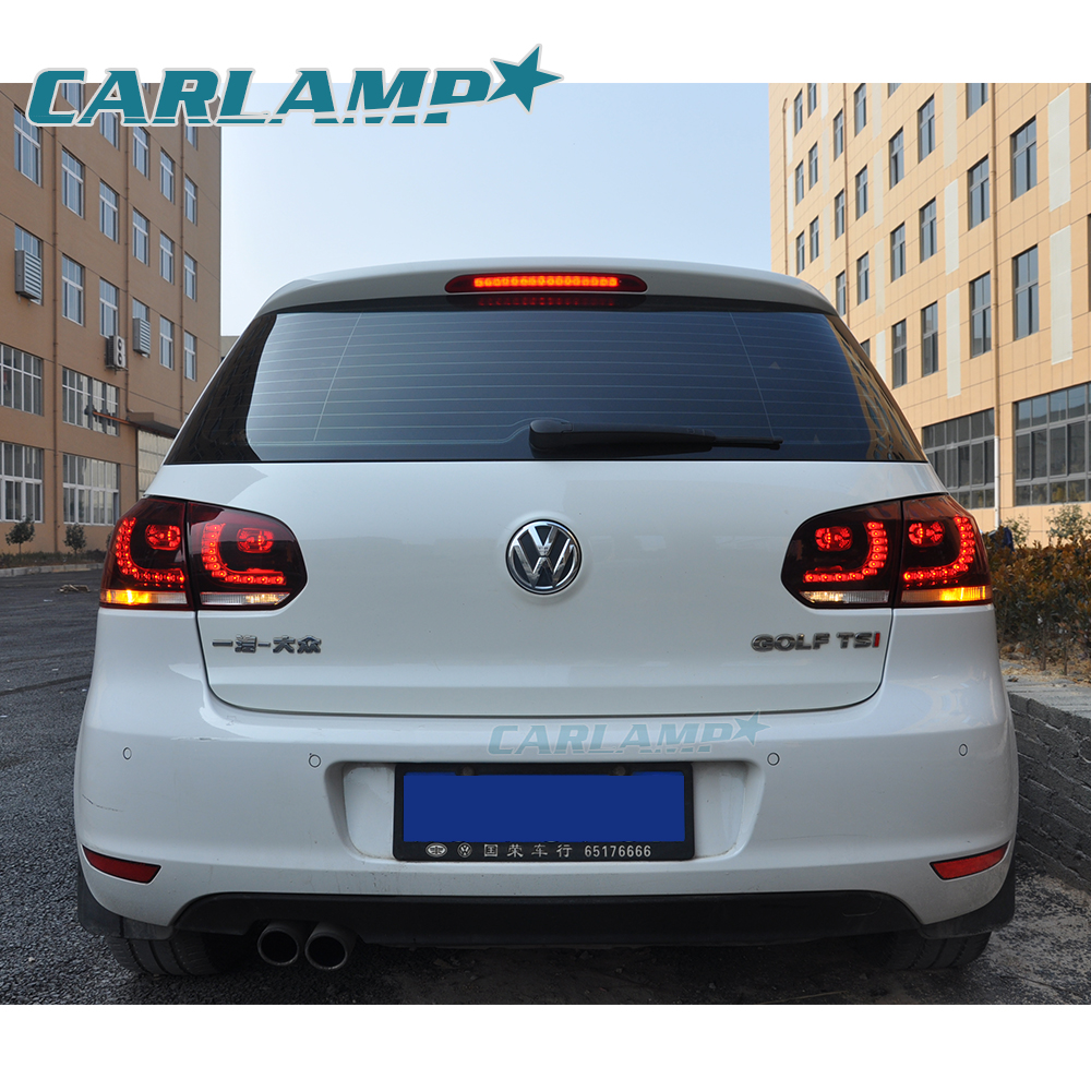 led tail lights for volkswagen vw 2008 2013 golf 6 gti mk6. Black Bedroom Furniture Sets. Home Design Ideas
