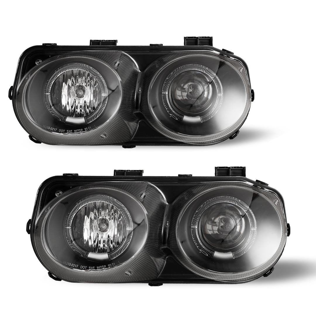 Fits 94 97 Acura Integra Halo Projector Head Lights Lamps Black Clear Headlights Car Truck Headlights Car Truck Parts