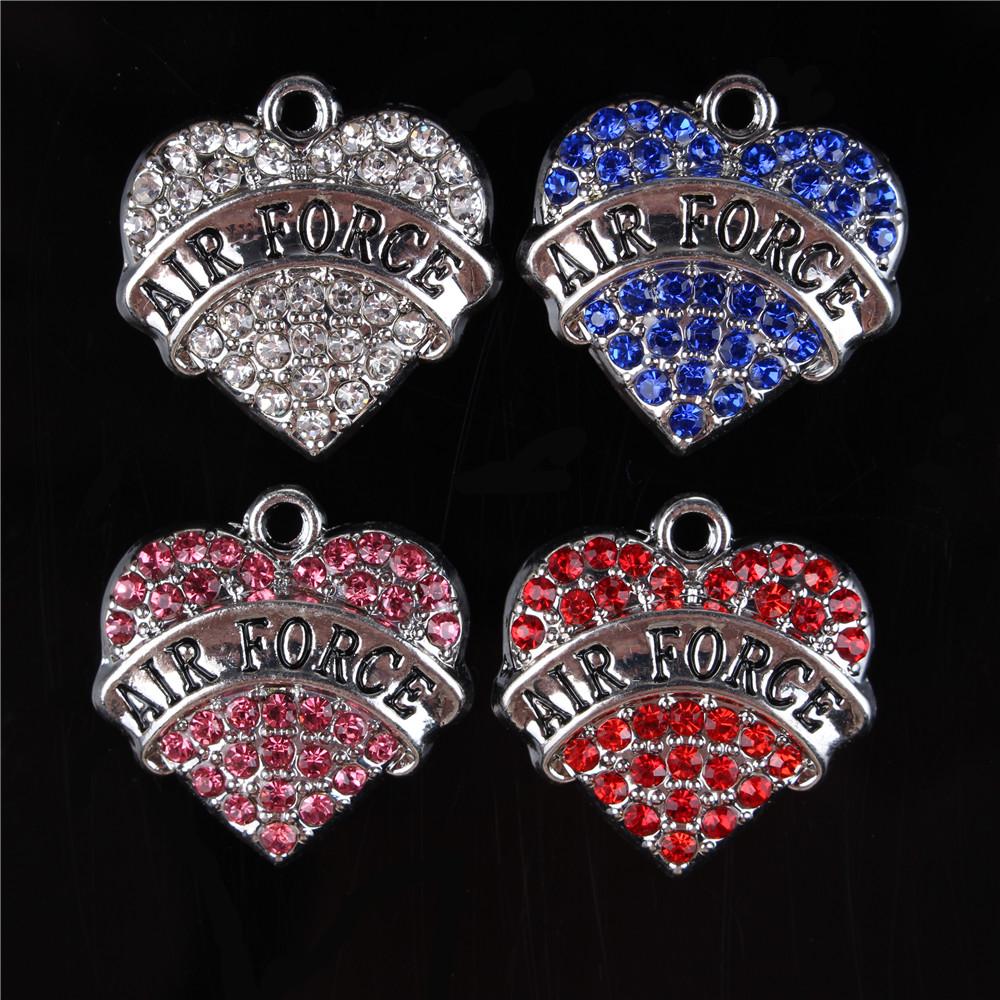 5pcs Crystal Rhinestone Pendants Charms for DIY Necklace Bracelet Silver