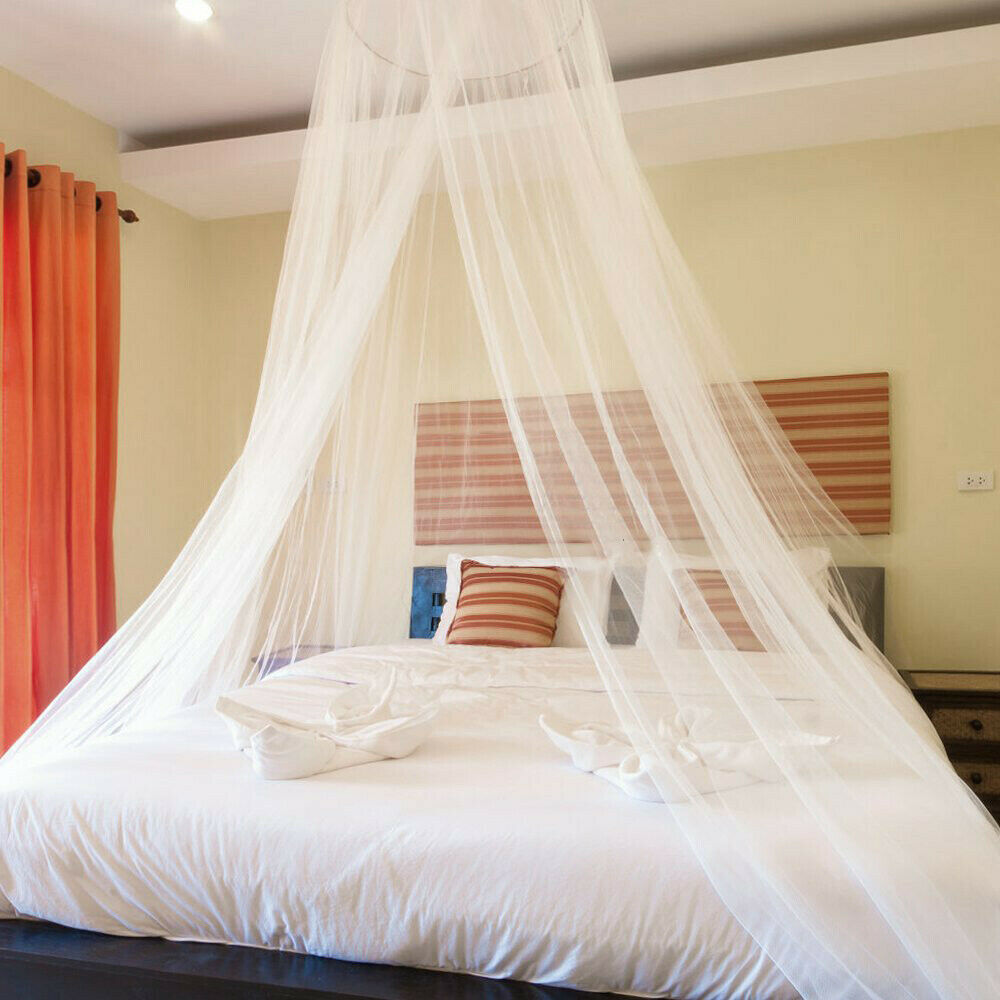 Bedroom Elegant Bed Lace Mosquito Netting Mesh Canopy ...
