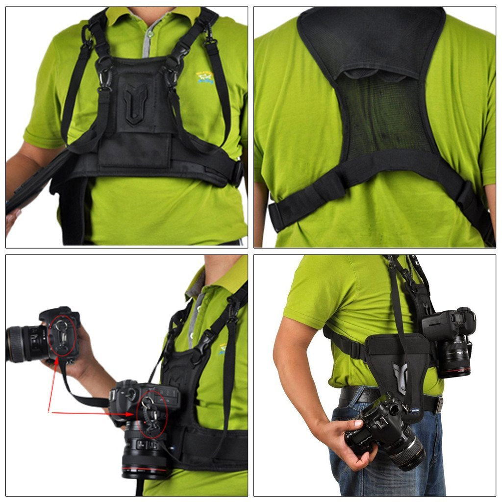 Micnova Multi Camera Carrying Chest Harness System Vest
