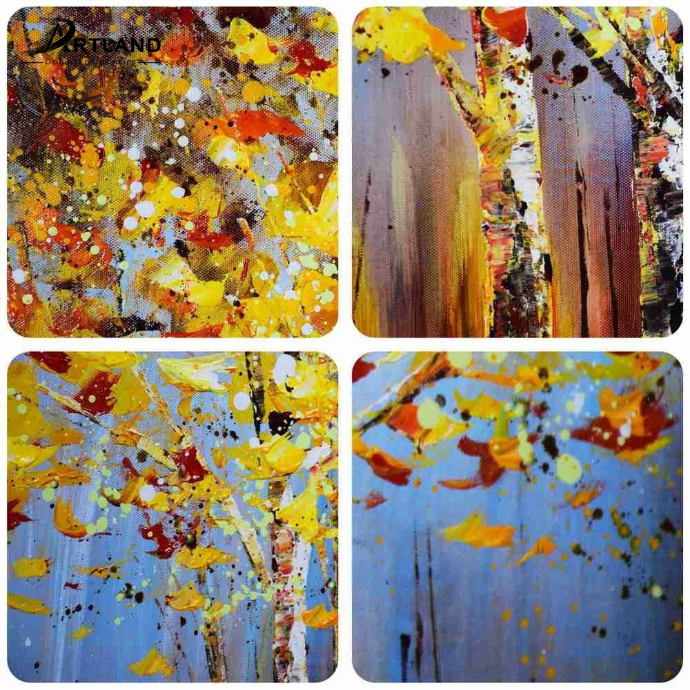 Large Hand-painted Canvas Wall Art Modern Framed Oil Painting \'Tree ...