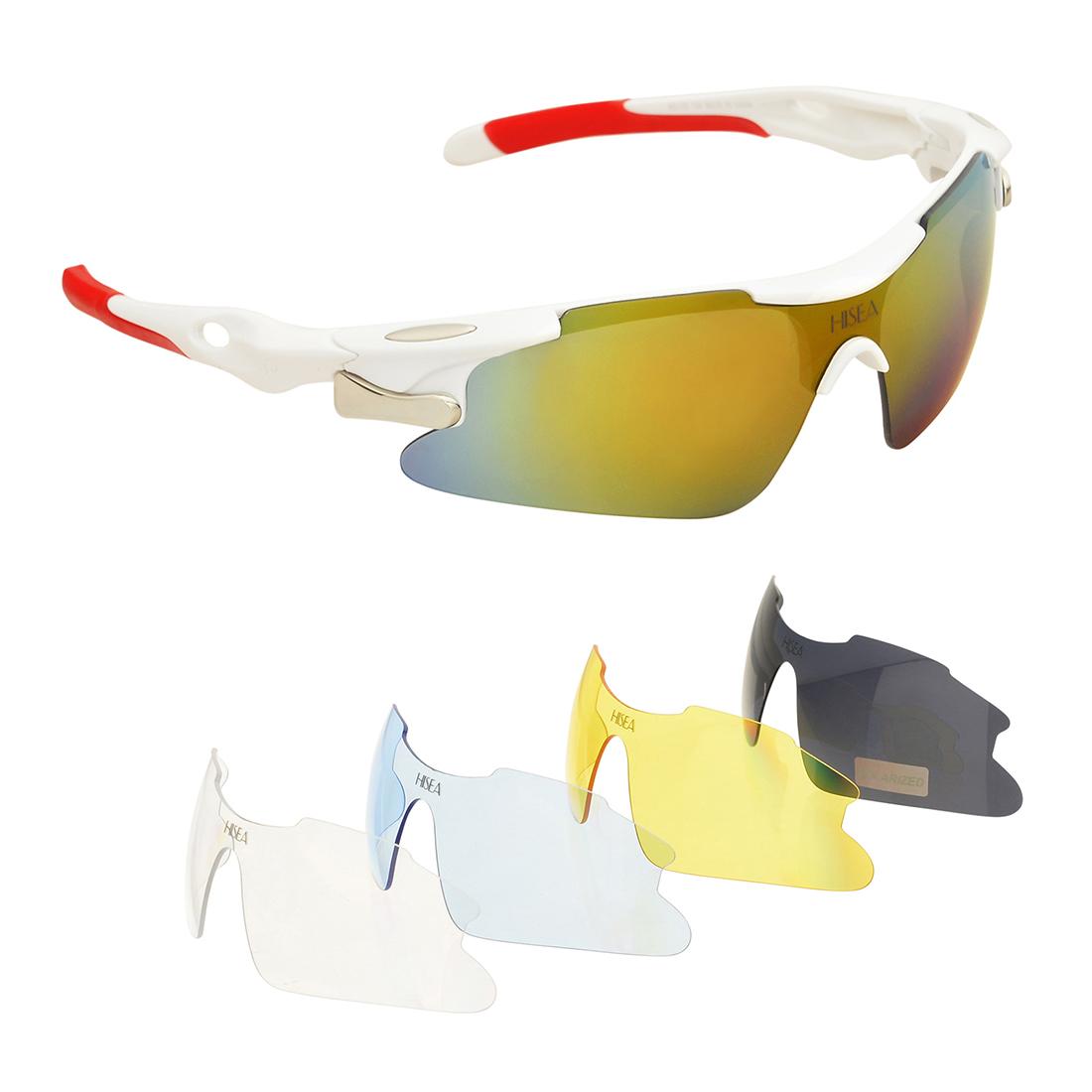 HISEA Polarized Sports Sunglasses for Men Women Cycling Running Driving Glasses
