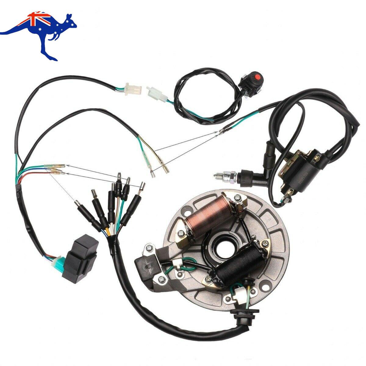 Kick Start Wiring Harness Cdi Coil Magneto Stator For Dirt Bike Lifan 50