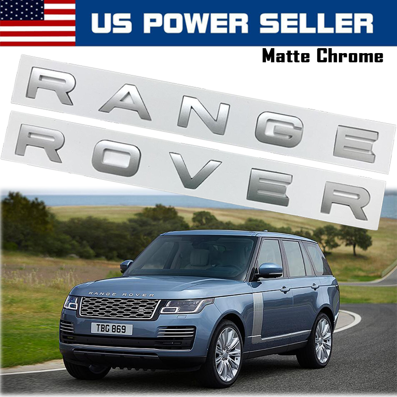 NEW RED 3M LETTERS HOOD OR TRUNK TAILGATE NAMEPLATE Fit For RANGE ROVER