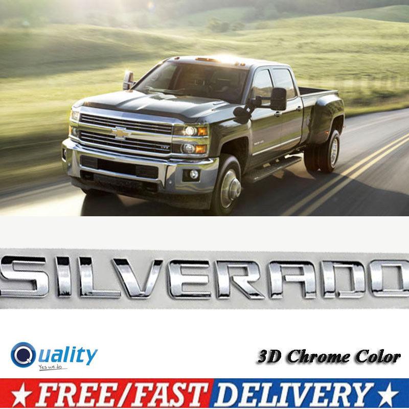 Chevrolet SILVERADO 1500 2500 3500 HD OEM Door Tailgate Emblem Badge Matte Black
