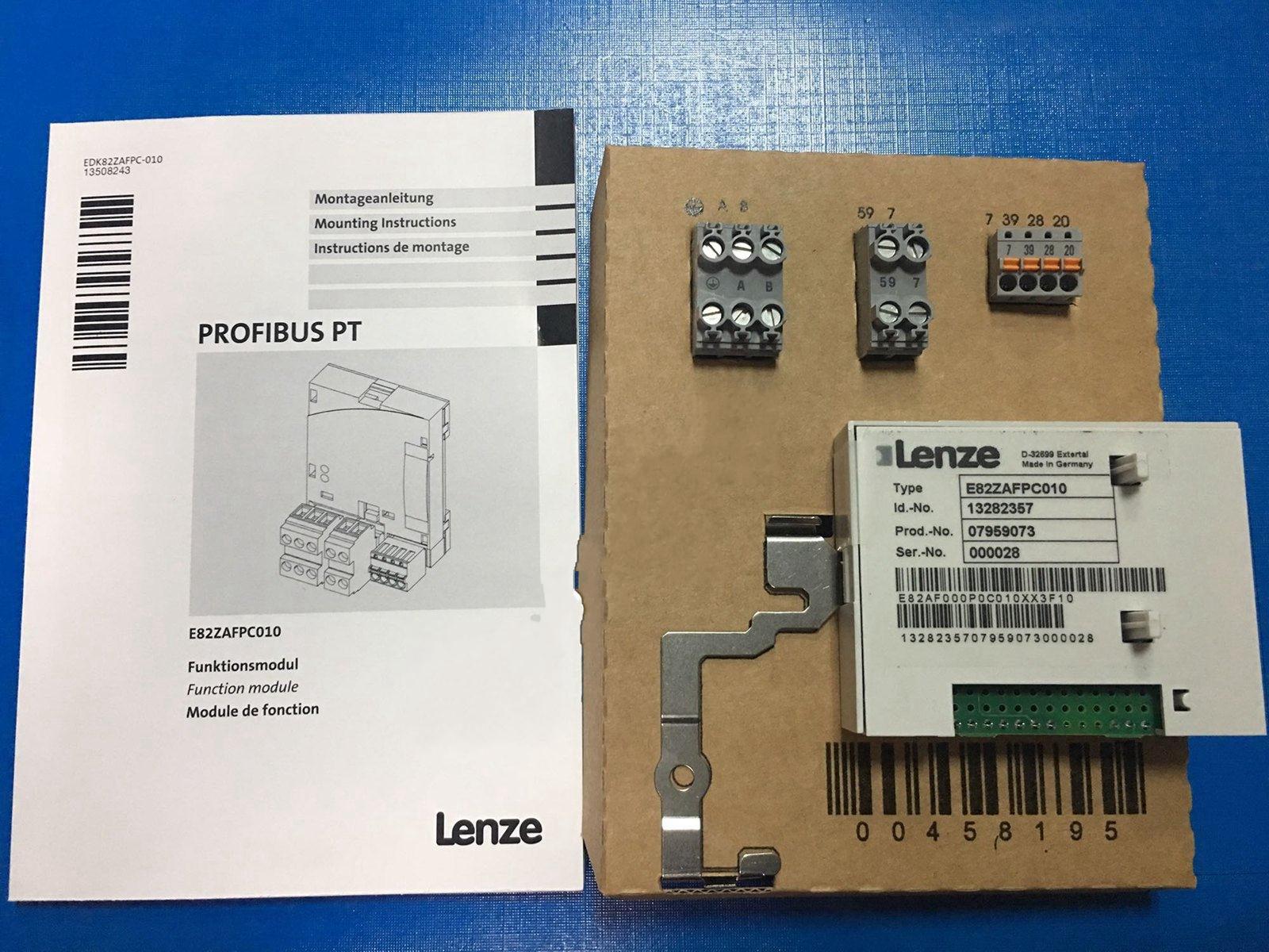 E 82 ZAFPC 010 Lenze FONCTION MODULE PROFIBUS PT Type