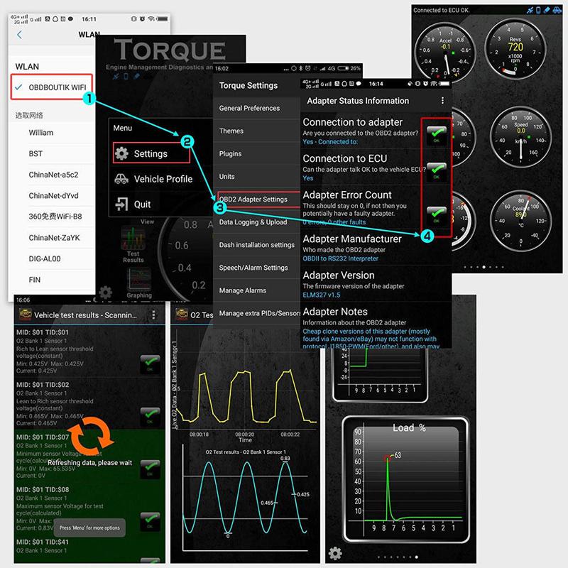 ELM327 OBDII Code Reader Scanner OBD2 WiFi Car Diagnostic