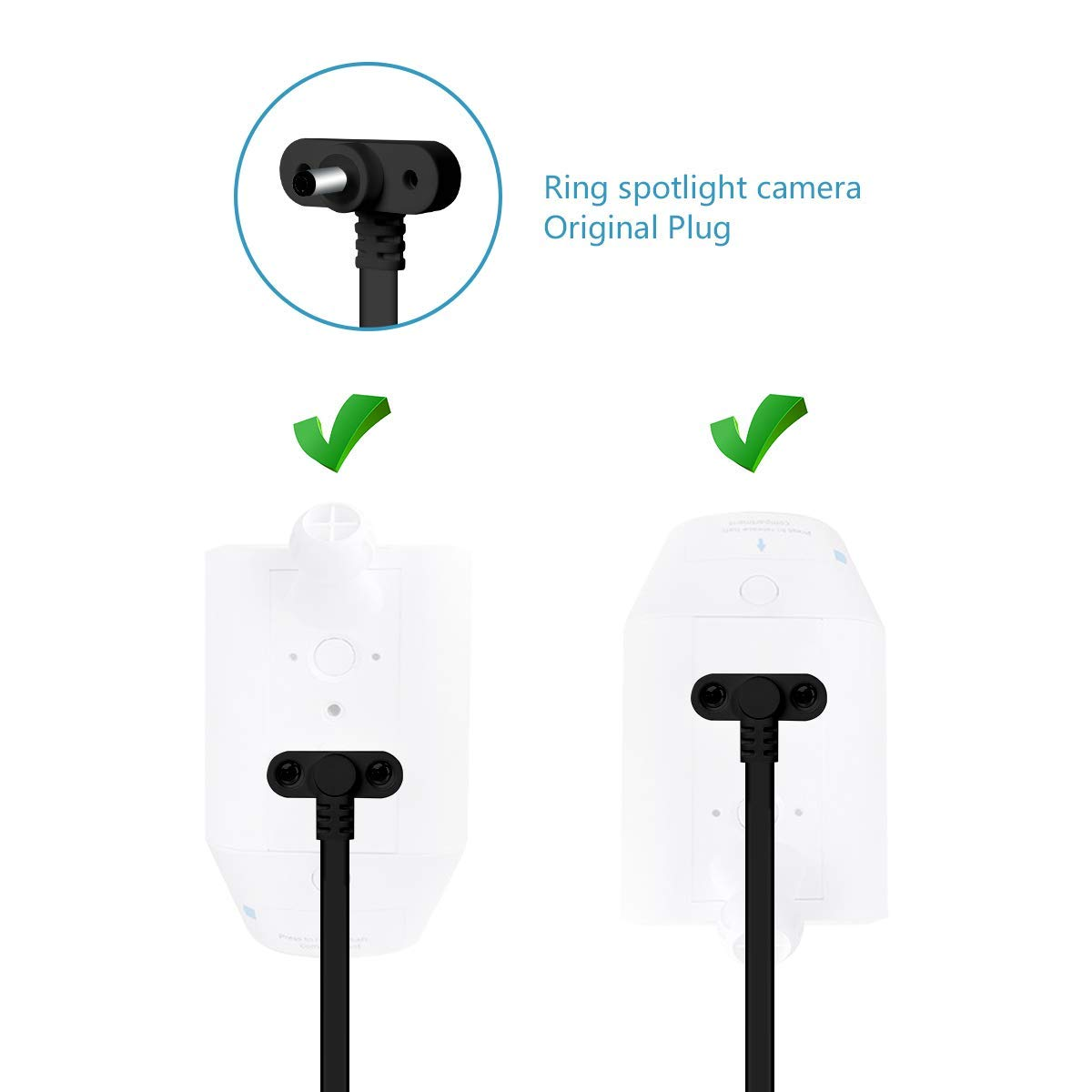 power adapter  u0026 cable for ring spotlight cam battery hd security camera us plug